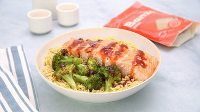 Sweet Chili Salmon & Broccoli Rice Bowl