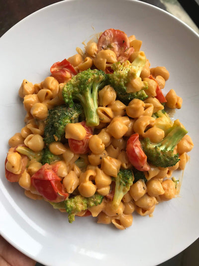 Spiced Up Mac & Cheese With Veggies