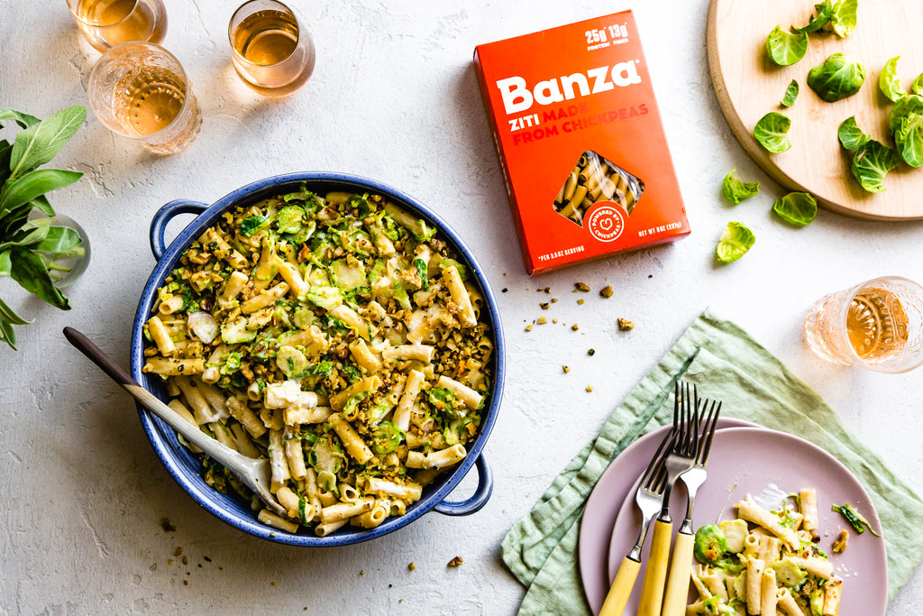 Ziti Brussels Sprout Bake
