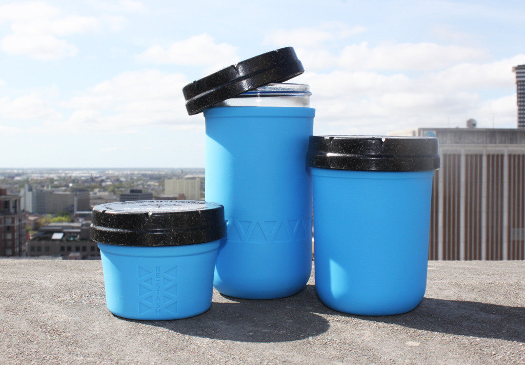 Blue 4oz + 8oz + 12oz Re:stash Jar Gift Set