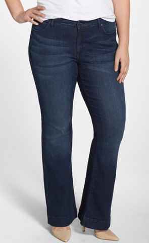 plus size flare jeans