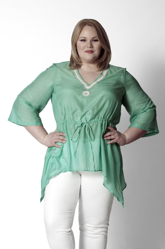 436f720c40c3d Green Silk Tunic – Twelve North