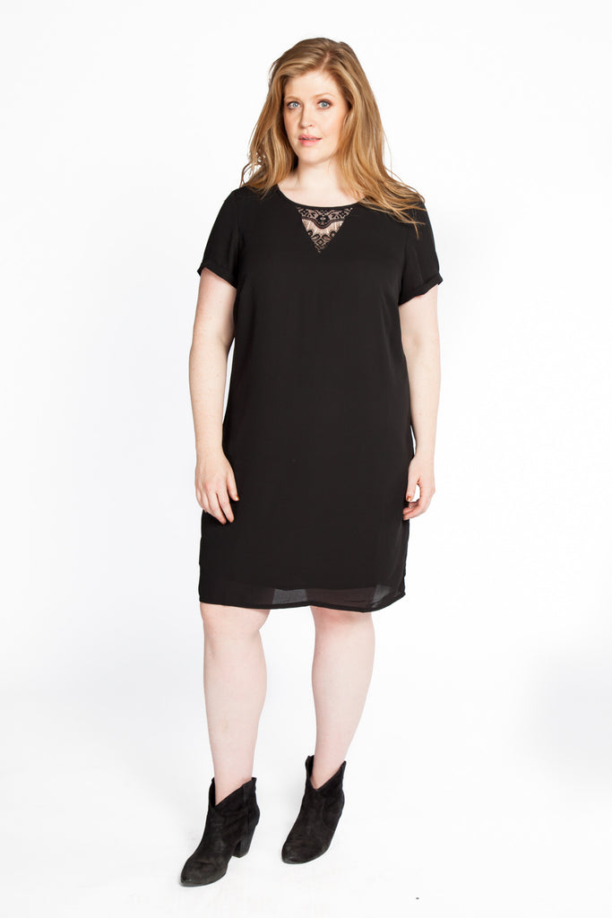 Short Sleeve Shift Dress