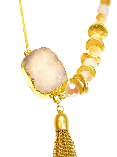 Tassel and Stone Necklace