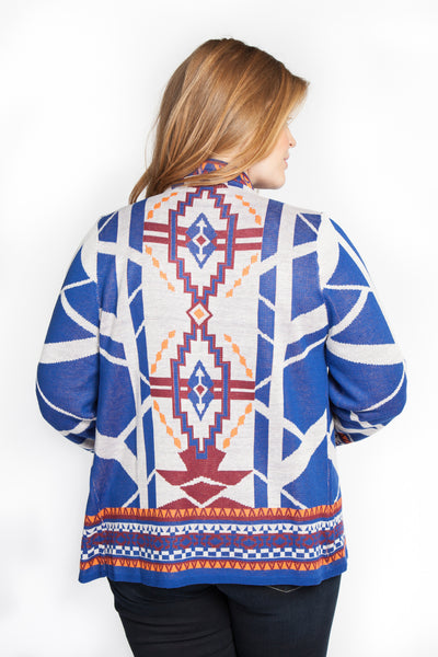 Patterned Shawl Sweater