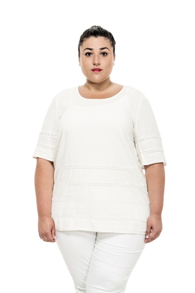 plus size linen shirt