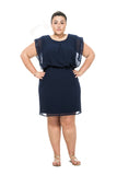plus size knee-length dress