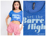 Set The Barre High Youth Crop