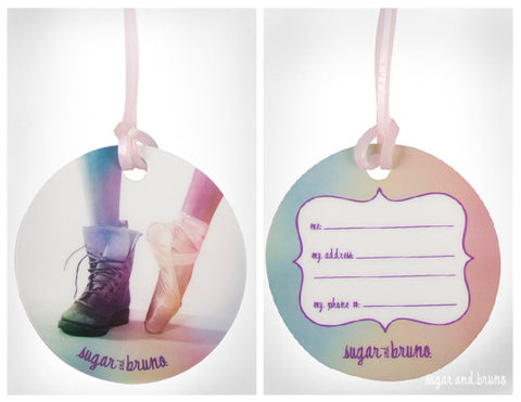 Ballet Boot Luggage Tag