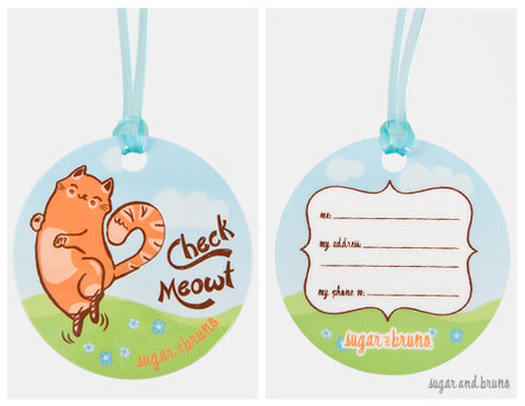 Check Meowt Luggage Tag