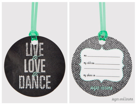 Live to Love to Dance Luggage Tag