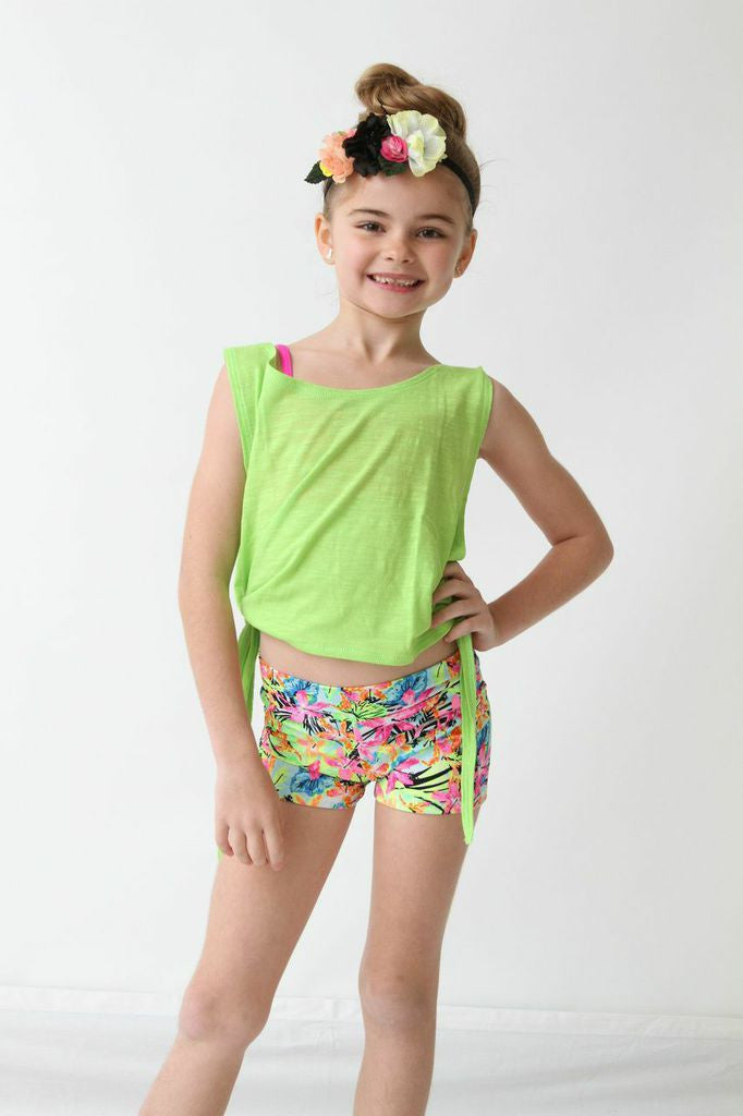 49ab9bdefb773 Lime Open Side Tie Tank Top – Helm Dancewear