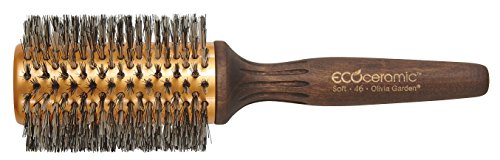 Eco Ceramic Soft Boar & Nylgard Round Brush 3""
