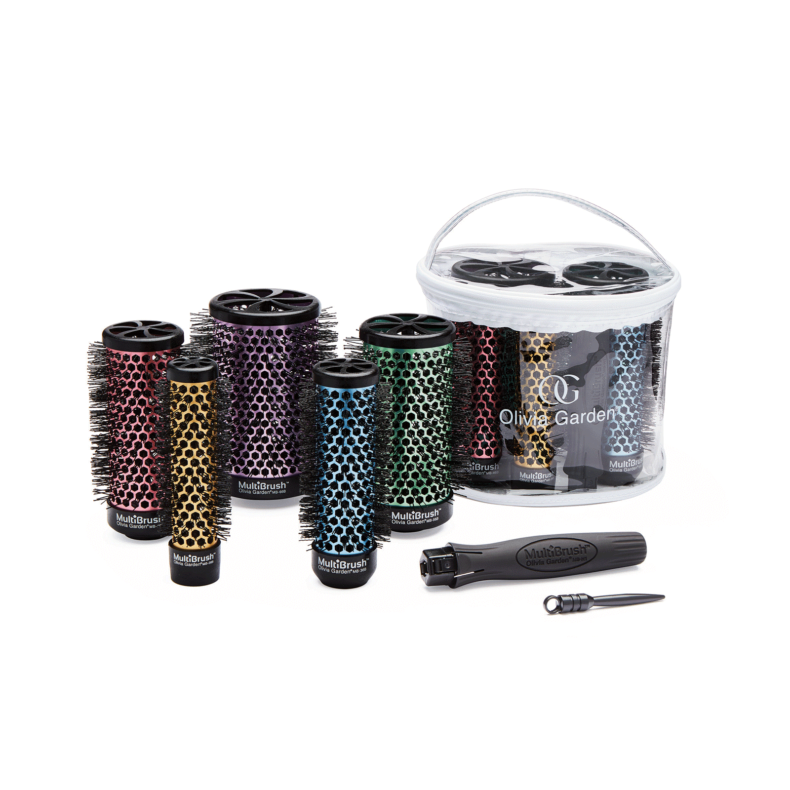 Multi Brush - 6 Piece Kit - 5 Barrels & Handle