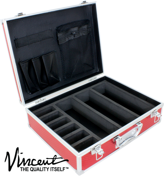 Vincent Master Barber Case, Small, Red