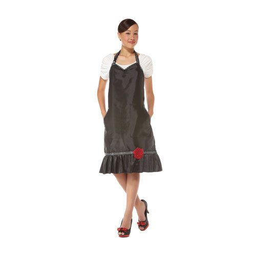 Olivia Garden Boutique Apron, Black, BT-A1