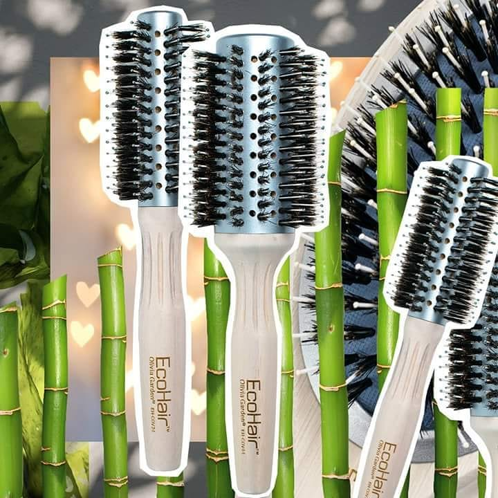 EcoHair Eco-Friendly Bamboo Combo Vent Brush, 2 1/4""