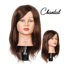 Classic Mannequin Head, Chantal Dark Brown, 4355DB