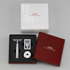 Jatai Feather Double Edge Razor w/ Stand, SS w/ Blade & Gift Box