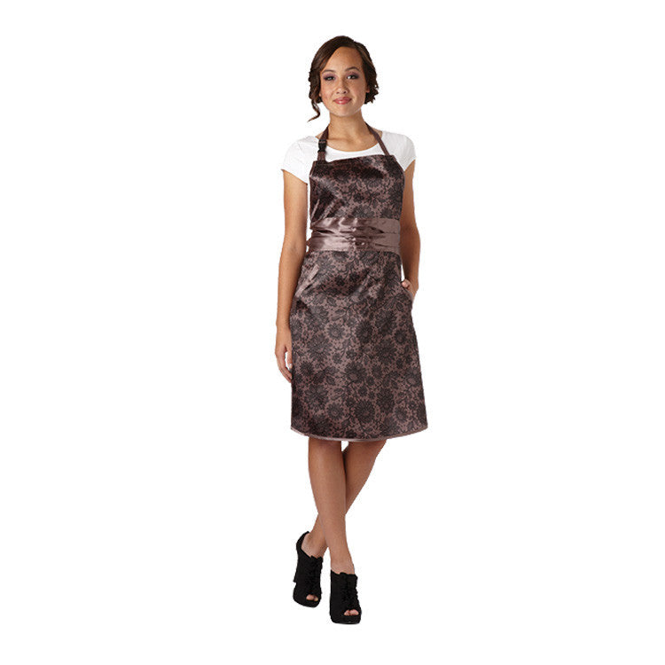 Olivia Garden Lace Apron, Taupe