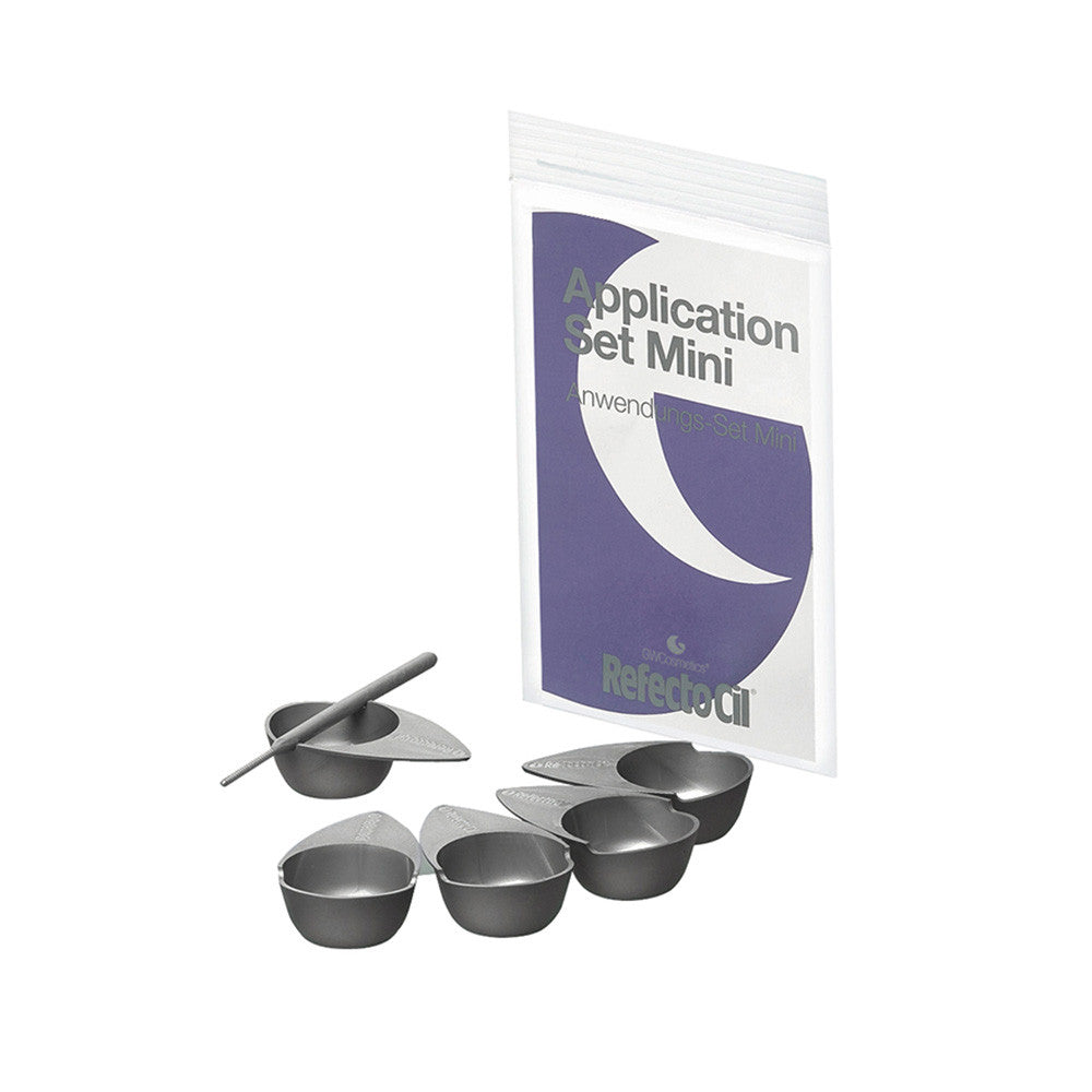 RefectoCil Application Set Mini, Includes: 5 Mini Tinting Dishes and 5 Application Sticks