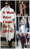 The 6 Classic Coats (waterfall, duster, camel, pea, bomber, faux fur) You Need in Your Closet Winter 2016