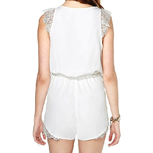 White Lace Peek-a-boo Romper Romper and Jumpsuit, Arissa:Kandis Clothing, Arissa : Kandis
