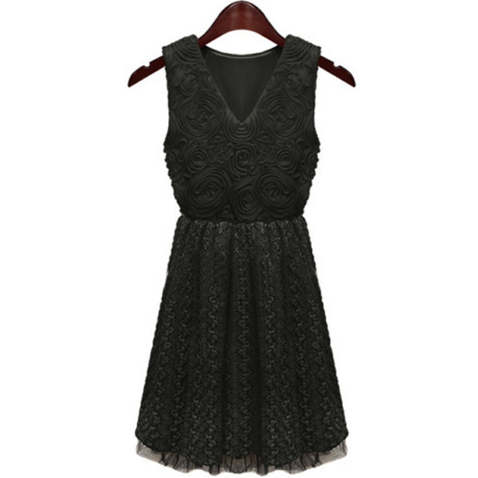 Black Lace Dress Dress, Arissa:Kandis Clothing, Arissa : Kandis