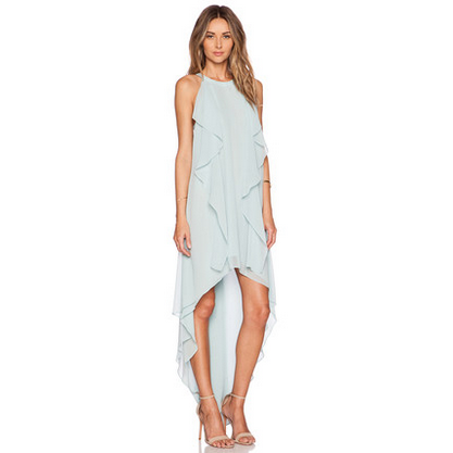 Light Blue Flowing Ruffles High Low Dress Dresses, Arissa:Kandis Online Shop, Arissa : Kandis