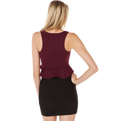 Sexy Deep Neck Flare Crop Top Tops, Arissa:Kandis Online Shop, Arissa : Kandis
