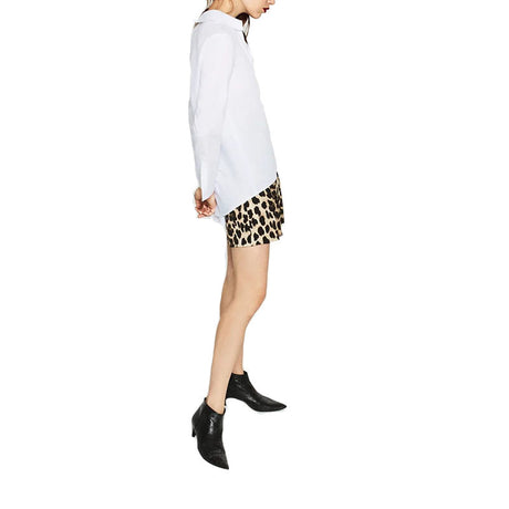 Two Tone V-neck  Shirt with Leopard Print Pocket Tops, Arissa:Kandis Online Shop, Arissa : Kandis