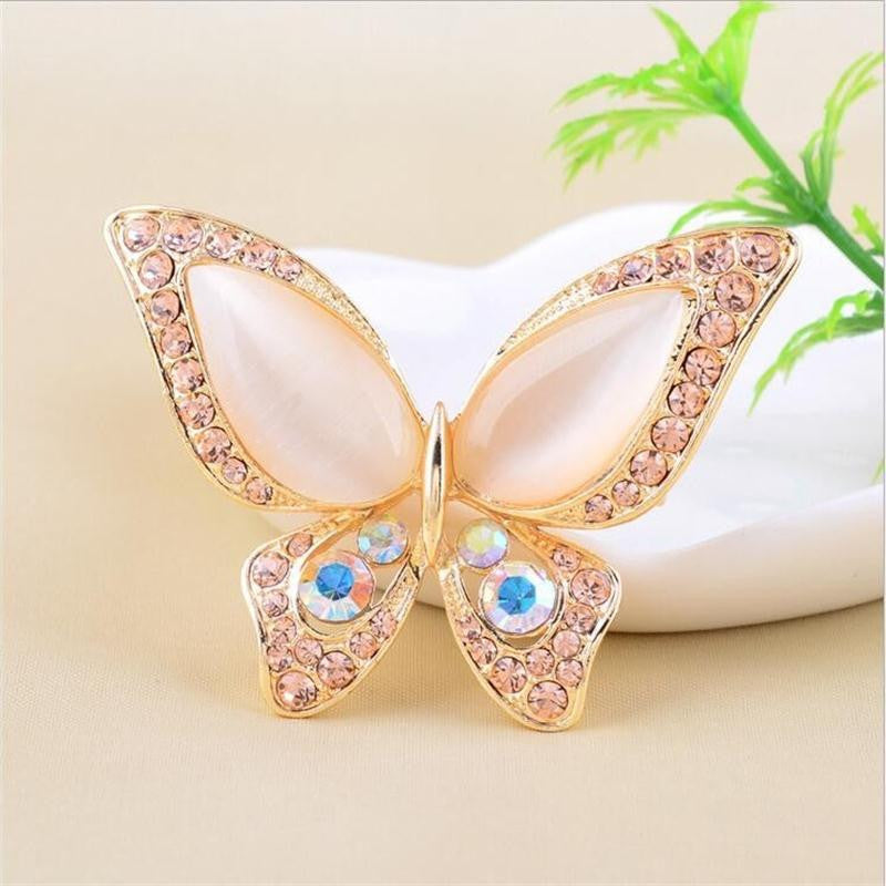 Colorful Opal Rhinestone and Crystal Butterfly Brooch Jewelery, Arissa : Kandis , Arissa : Kandis