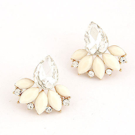 Crystal Flower Stud Earrings Jewelry, Arissa : Kandis , Arissa : Kandis