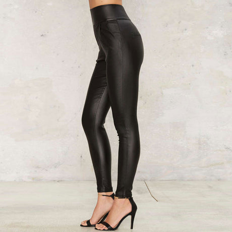 High Waist Skinny Faux Leather Pants