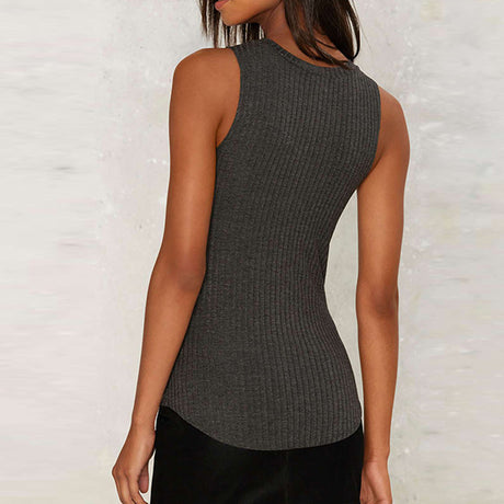 Asymmetrical Cut Out Top