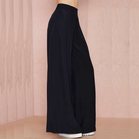 High Waist Flowing Wide Leg Slacks