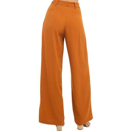 Tie-Front High Waist Pants