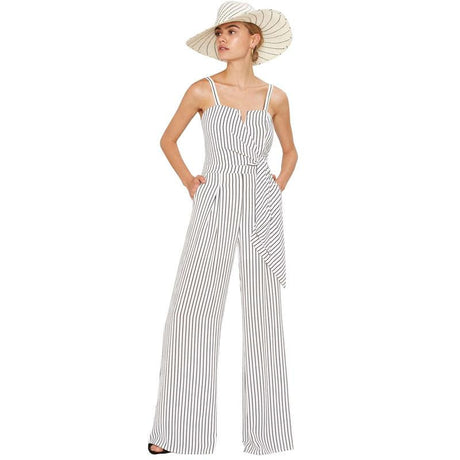 Spaghetti Straps Striped Wide Leg Jumpsuit