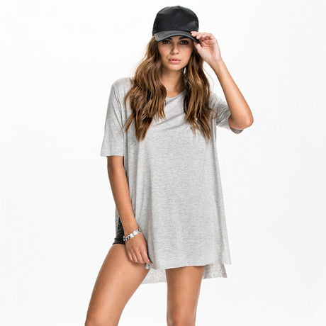 Wide Neck Split SIdes T Shirt