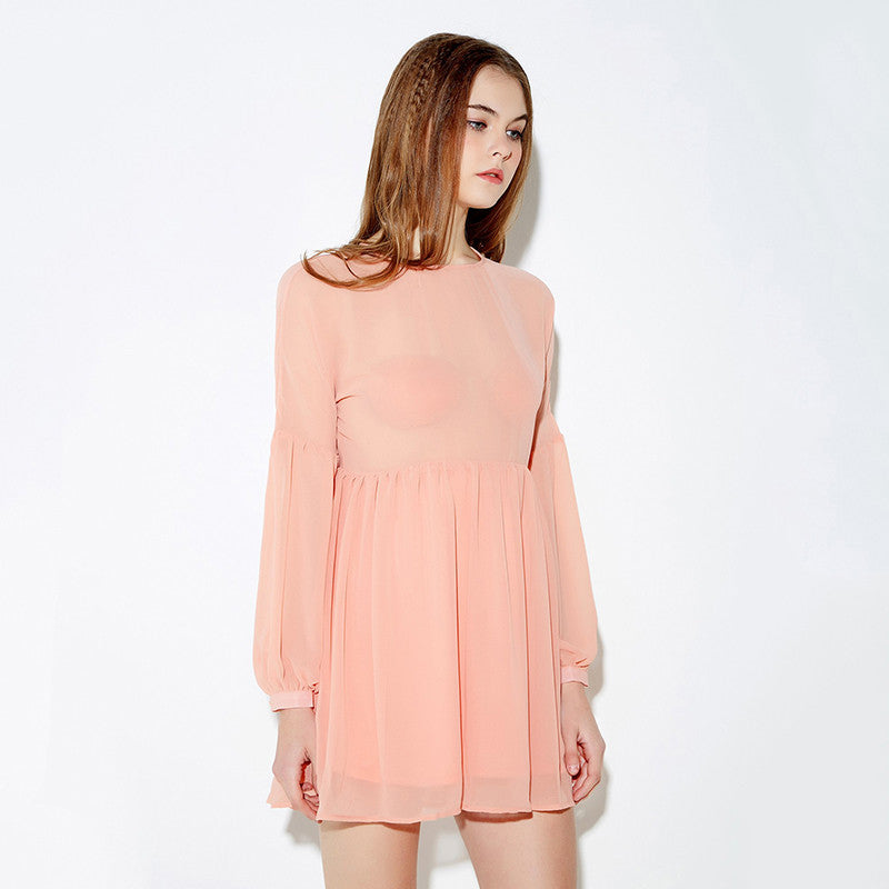 Bubble Long Sleeve Dress