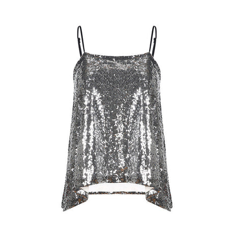 Mermaid Sequin Glitter Tank Top
