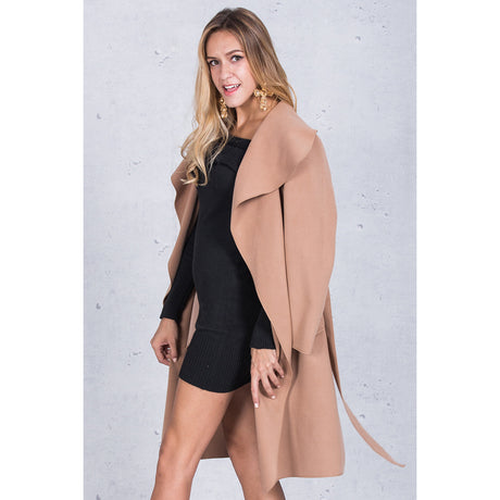Beige Waterfall Coat jackets & coats, Arissa : Kandis , Arissa : Kandis