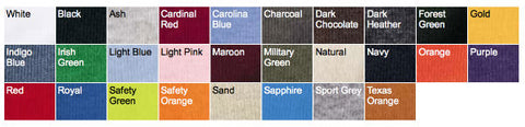 Gildan Long-Sleeve T-Shirt Colors
