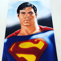 11x17 poster print of Christopher Reeves Superman fanart