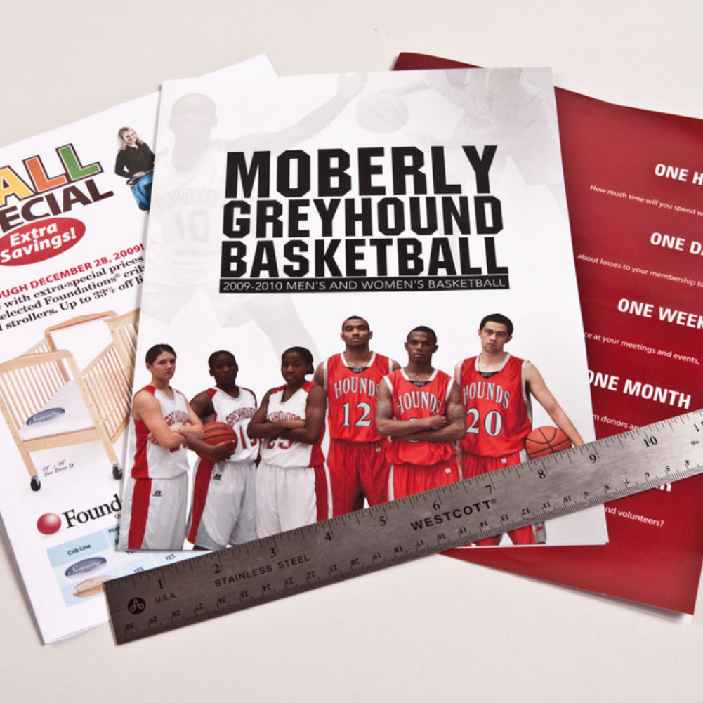 11x17 half folded brochure for sports team
