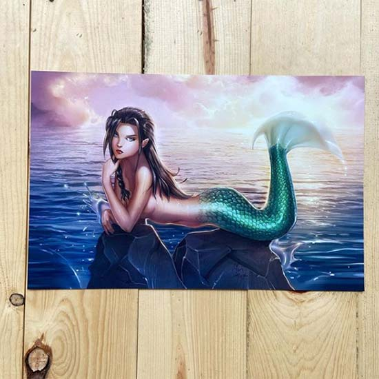 11x17 print of a mermaid illustration