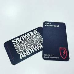 2 sided 20pt plastic business cards