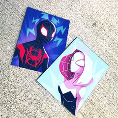 3x4 printing of fan art - Spider-man and Spider-Gwen