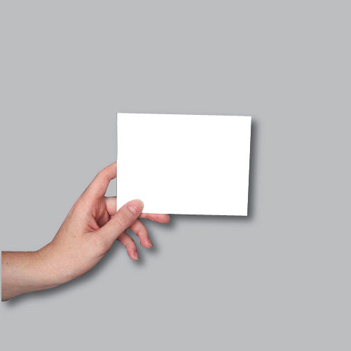 4.25 x 5.5 blank card to demonstrate size