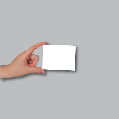 Showing the actual size of a 3x4 card